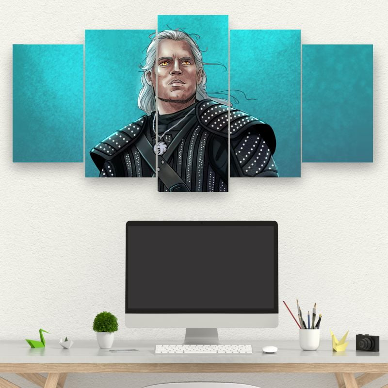 Kit 5 Quadros GERALT  - THE WITCHER