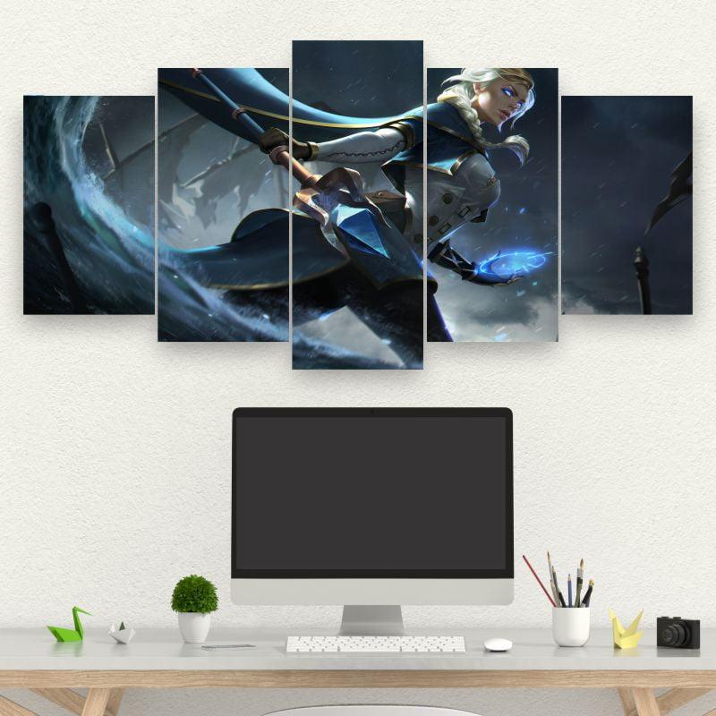 Kit 5 Quadros Jaina - World of Warcraft