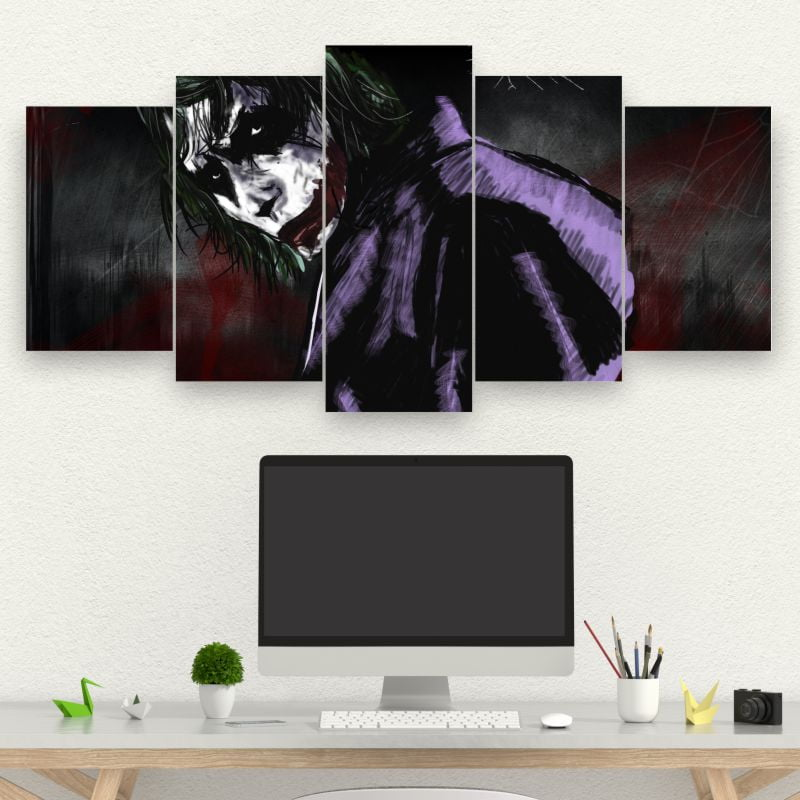 Kit 5 Quadros mosaico Joker