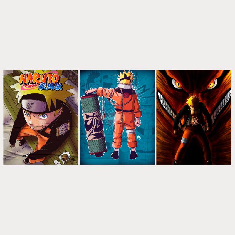 Conjunto de Quadros Naruto