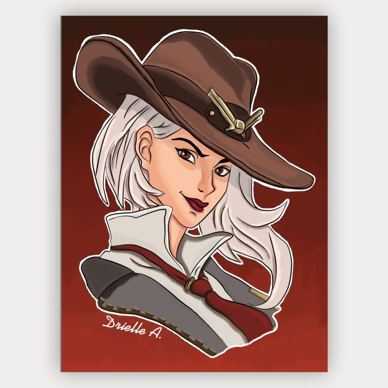Quadro Decorativo Ashe Overwatch