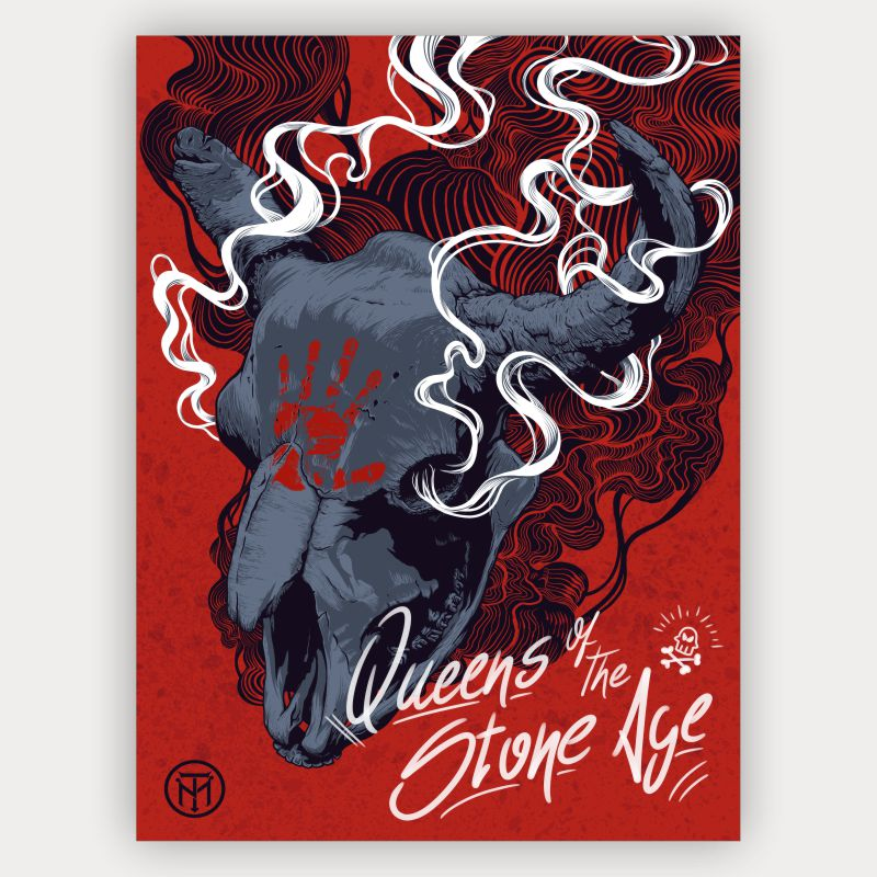 Quadro Decorativo Queens of the Stone Age Buffalo Skull