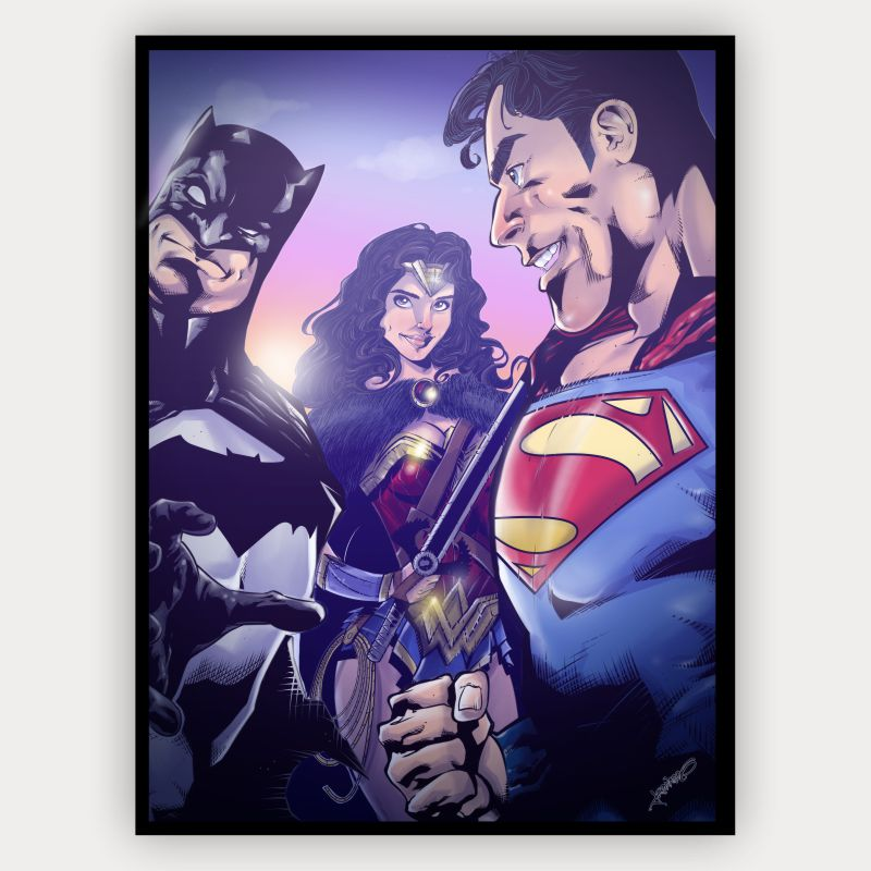Quadro Decorativo Velcro Batman vs Superman