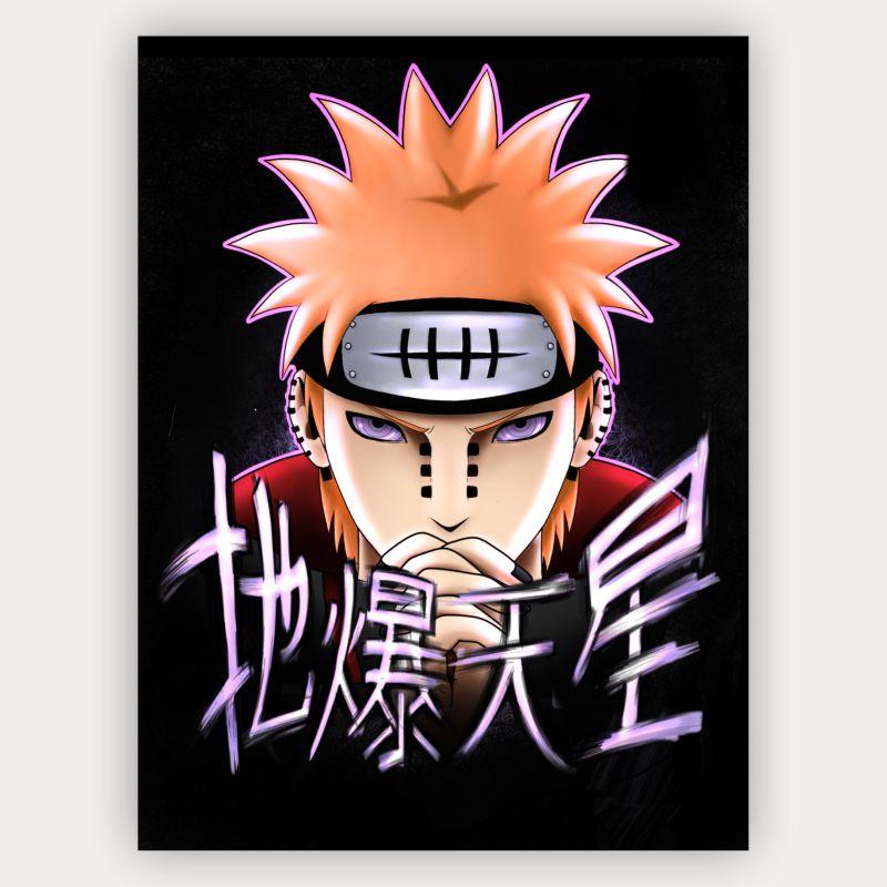 Quadro Decorativo Velcro Nagato Pain - Naruto