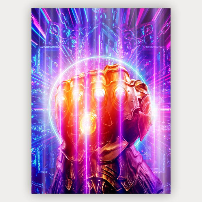 Quadro Manopla do infinito - Thanos