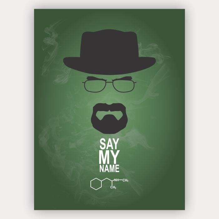 Quadro Minimalista Breaking Bad - Say my name