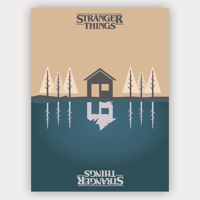 Quadro Stranger Things Minimalista - Mundo invertido