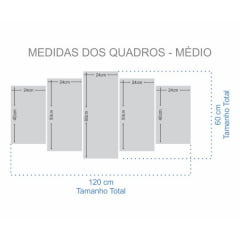 Kit 5 Quadros Majin Vegeta