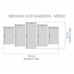 Kit 5 Quadros Mosaico Gamer Fortnite marshmello