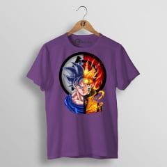 Camiseta Goku e Naruto