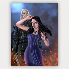 Quadro Geralt e Yennefer - The witcher