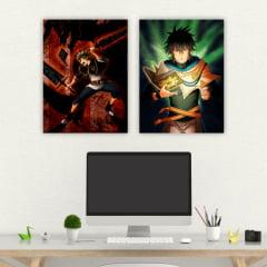 Coleção de quadros Black Clover - Asta e Yuno