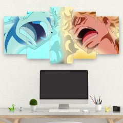 Kit 5 Quadros Anime One Piece - Zoro e Sanji