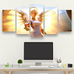 Kit 5 Quadros Mercy - Overwatch