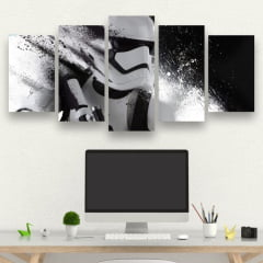 Kit 5 Quadros mosaico Stromtrooper - Star Wars