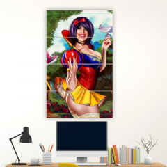 Kit 4 Quadros mosaico BRANCA DE NEVE PIN UP