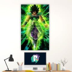 Kit 4 Quadros mosaico Broly - Dragon Ball