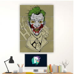 Kit 4 Quadros mosaico Joker