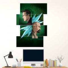 Kit 4 Quadros mosaico White e Pinkman - Breaking Bad
