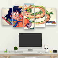 Kit 5 Quadros Dragon Ball Clássico