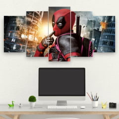 Kit 5 Quadros Filme Deadpool