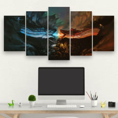Kit 5 Quadros Game of Thrones
