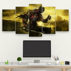 Kit 5 Quadros Gamer - Dark Souls