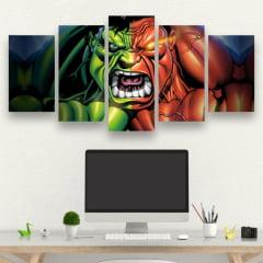 Kit 5 Quadros Hulk e Red Hulk