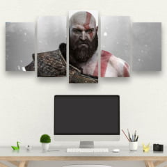 Kit 5 Quadros Kratos - God of War