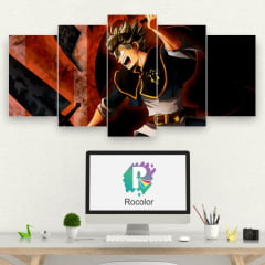 Kit 5 Quadros mosaico Asta - Black Clover