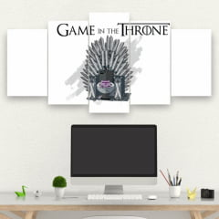 Kit 5 Quadros mosaico GAME IN THE THRONE