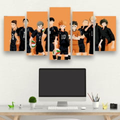 Kit 5 Quadros Mosaico Haikyuu