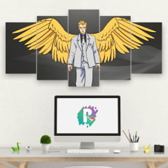 Kit 5 Quadros mosaico Lucifer Morningstar