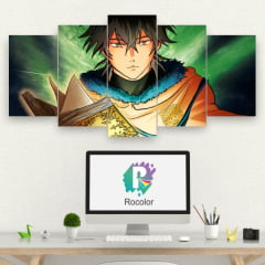 Kit 5 Quadros mosaico Yuno - Black Clover