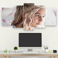 Kit 5 Quadros Nerd - daenerys targaryen - Game of thrones
