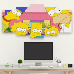 Kit 5 Quadros Os Simpsons