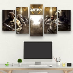 Kit 5 Quadros Rainbowsix Siege