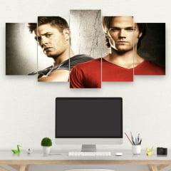Kit 5 Quadros Sam e Dean winchester - Série Supernatural Mo. 02