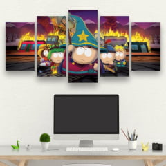 Kit 5 Quadros South Park The Stick of Truth