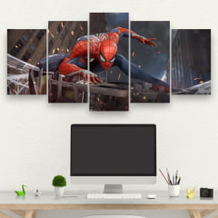 Kit 5 Quadros Spider Man
