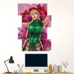 Painel Mosaico Kit de 4 Quadros CAMMY STREET FIGHTER