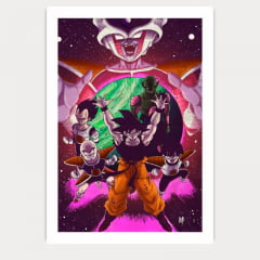 Quadro Decorativo Nerd - Dragon Ball Z Freeza
