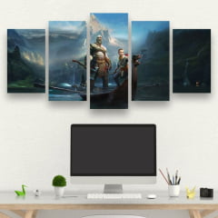 Kit 5 Quadros God Of War