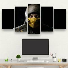 Kit 5 Quadros Scorpion - Mortal Kombat