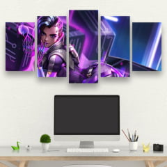 Kit 5 Quadros Sombra - Overwatch