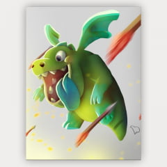 Quadro Decorativo Baby Dragon - Clash of Clans