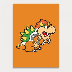 Quadro Decorativo Bowser - Mario