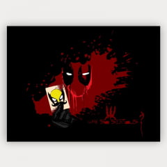Quadro Decorativo DEADPOOL BLOOD