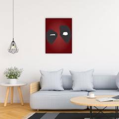 Quadro Decorativo DeadPool minimalista