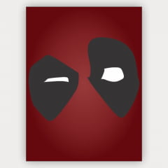 Quadro Decorativo DeadPool minimalista